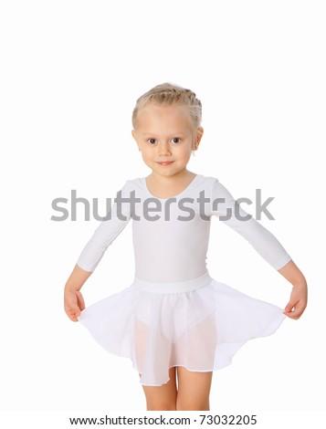 Portrait of the little dancer - stock photo