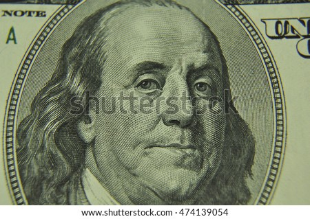 Portrait of the president of America on the note, money, finance, business, currency, crisis, dollar, course, a portrait