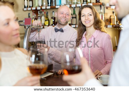 Portrait of the restaurant staff at the bar