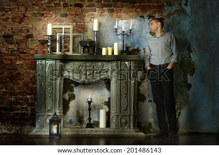 Portrait of thoughtful man in vintage interior