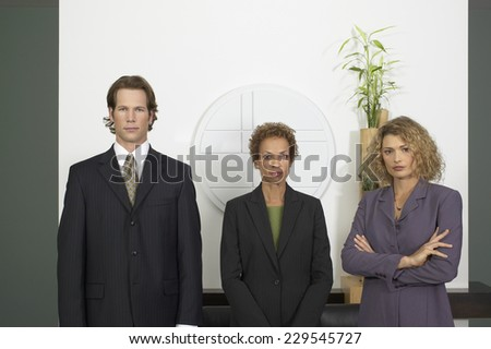Portrait of three Business people posing for the camera