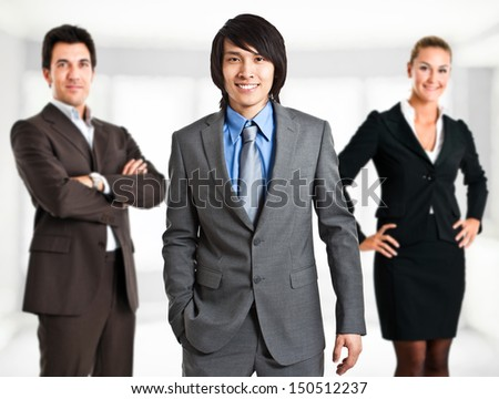 Portrait of three business persons