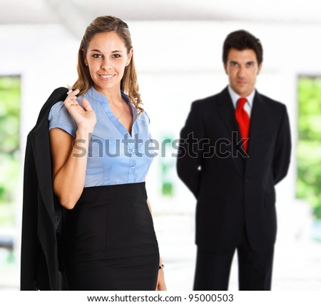 Portrait of two business persons