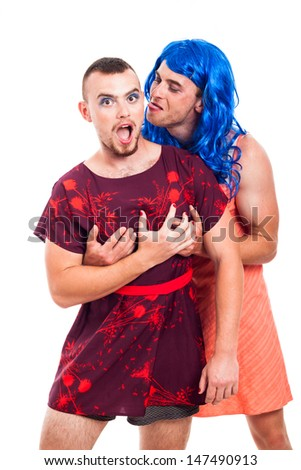 Transvestites having fun