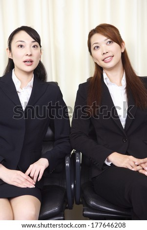 Portrait of two Japanese office ladies