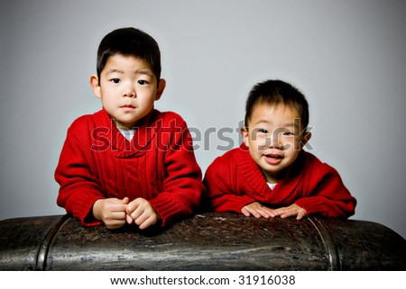 Portrait of two Korean Boys