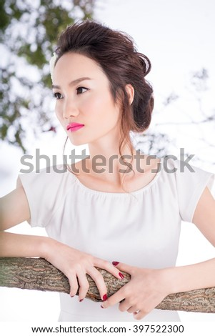 Portrait of very pretty Chinese woman