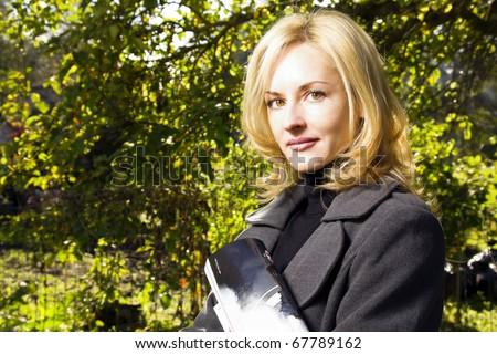 Portrait of  woman - stock photo