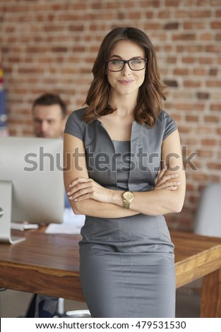 Portrait of woman in her office