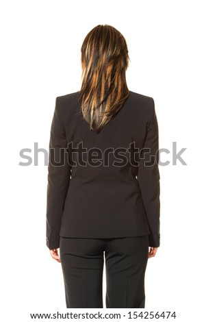 portrait of woman, isolated on white background