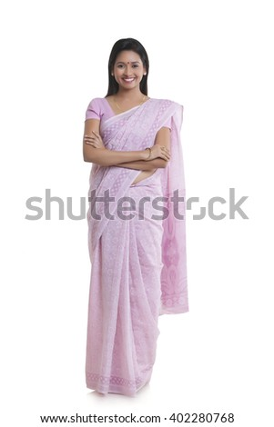 Portrait of woman smiling - stock photo