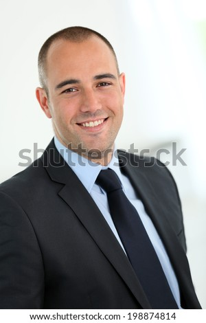 Portrait of 30-year-old businessman - stock photo