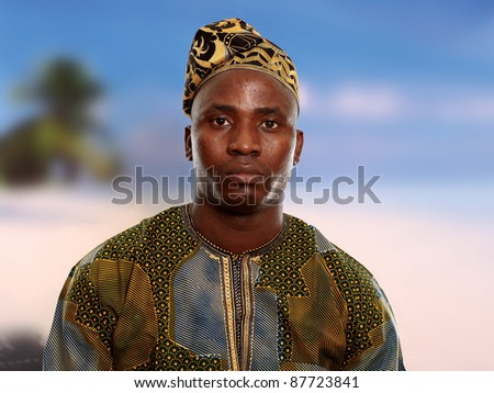 Portrait of young  african male