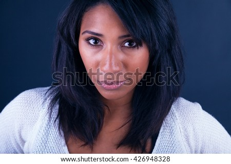 Portrait Of Young African Woman Smiling - stock photo