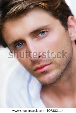 portrait of young appealing man - stock photo
