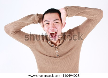 Portrait of young asian man. - stock photo