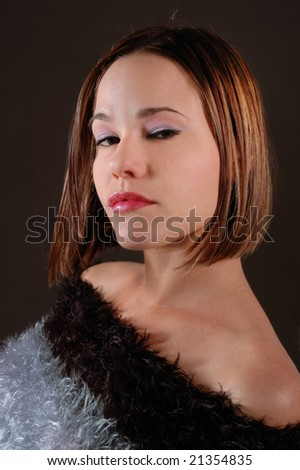 Portrait of young attractive hispanic woman isolated
