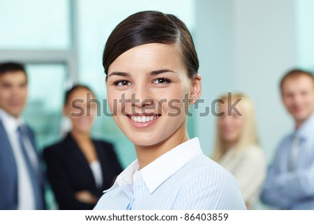Portrait of young beautiful businesswoman