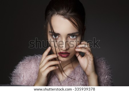 Portrait of young beautiful fashion girl