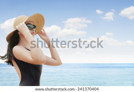 portrait of young beautiful woman in hat and sunglasses