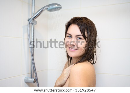 Woman Taking Shower Stock Images, Royalty-Free Images