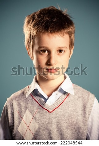 Portrait of young boy. - stock photo