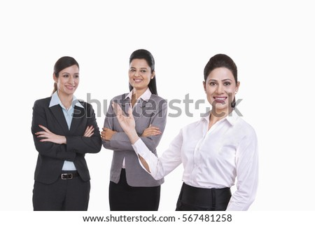 Portrait of young business women