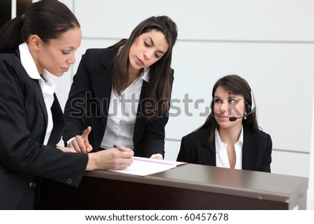 Portrait of young businesswomen - stock photo