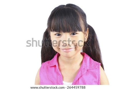 Portrait of young cute girl - stock photo