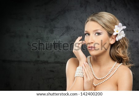 Portrait of young, emotional and beautiful woman