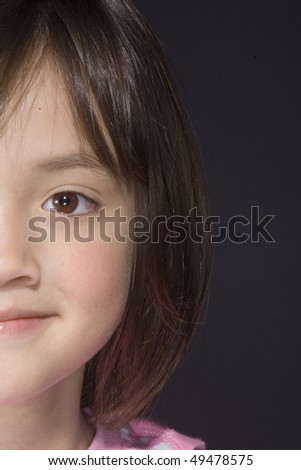 Portrait of young girl 5. - stock photo