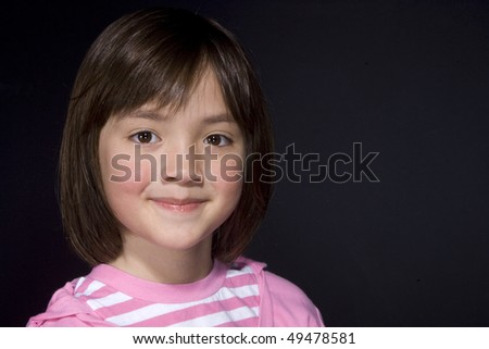Portrait of young girl 3. - stock photo