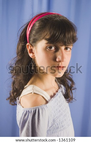 Portrait of young girl child
