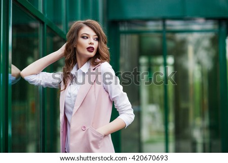 Portrait of young girl outdoor