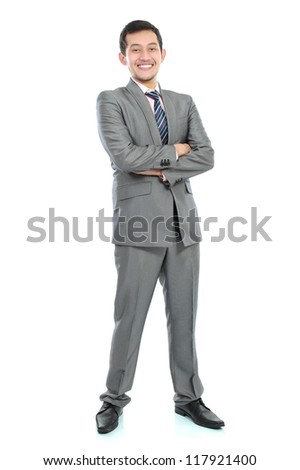 portrait of young happy business man