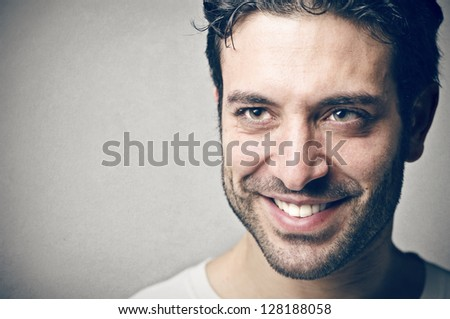 portrait of young man smiling