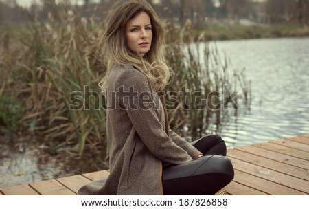 Portrait of young model outdoor