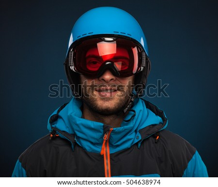 Portrait of young snowboarder