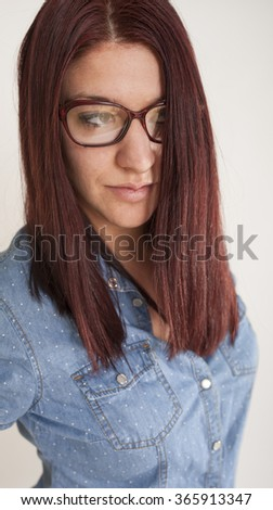 Portrait of young woman. Casual style.