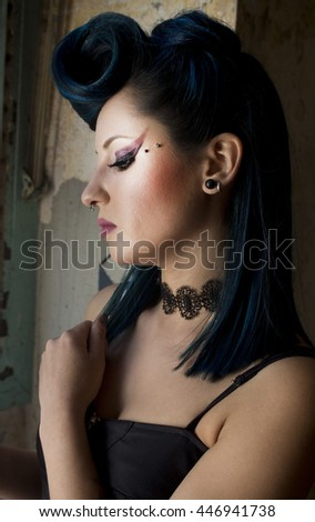 portrait of young woman in the street