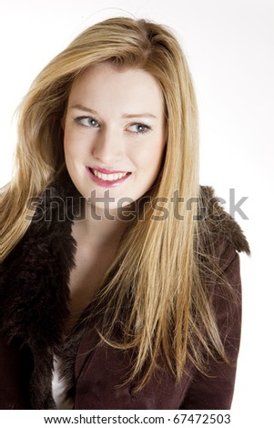 portrait of young woman wearing jacket