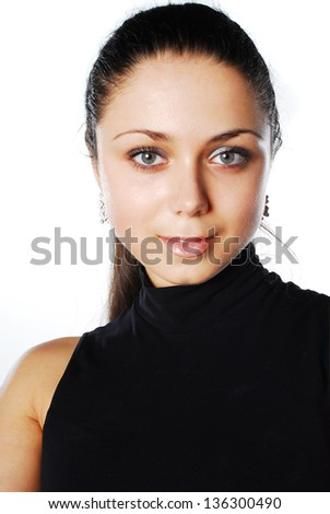 Portrait of ypung girl - stock photo