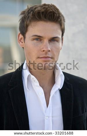 Portrait Photo Of A Handsome Man In A Corporate Attire - stock photo