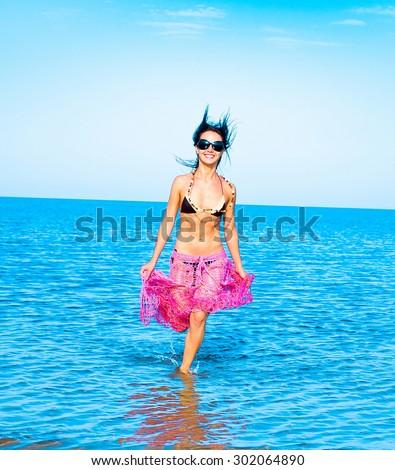 Portrait Pleasure Beach  - stock photo
