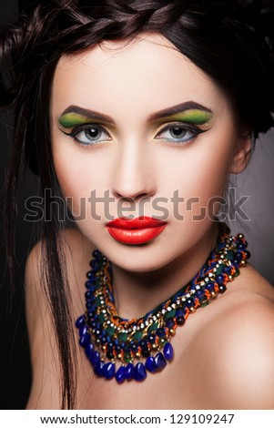 portrait sexy woman with necklace