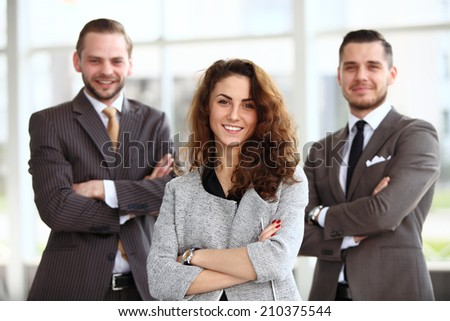 Portrait  young  businesswoman - stock photo