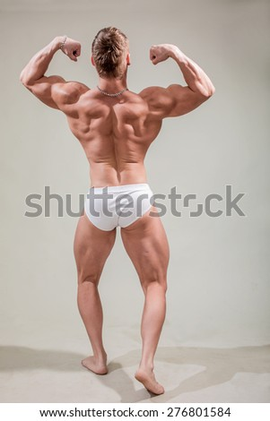 Portrait young strong men  - stock photo