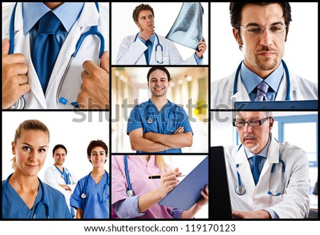 Portraits of doctors at work