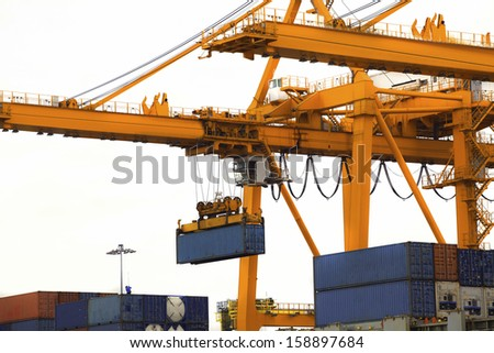 Ports on white background. - stock photo