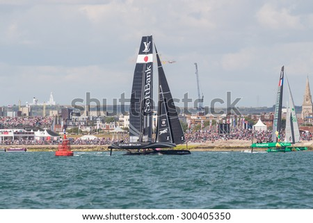 PORTSMOUTH, UK JULY 25, 2015: First qualifying event that will count towards the 2017 America's Cup Challenger Series, the winner will take on Oracle in the 2017 America's Cup